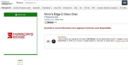 mirrors-edge-2-xbox-one-amazon-italy-listing