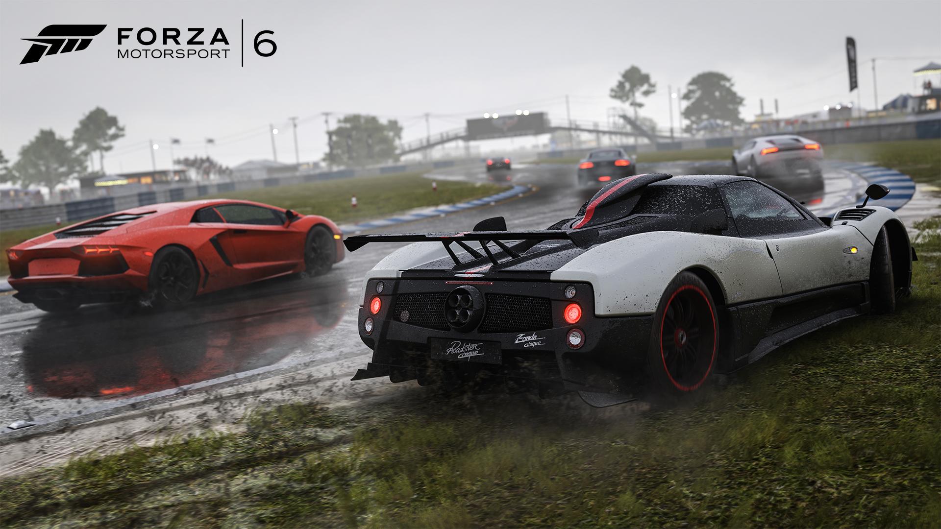گیمپلی Forza 6 در هوای بارانی