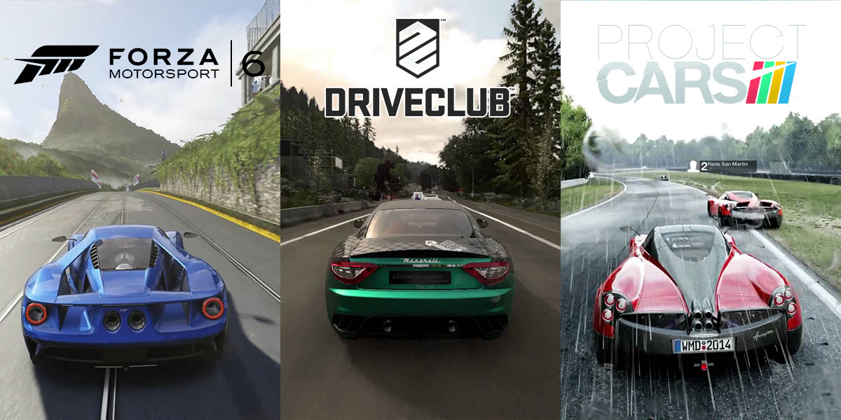 Drive Club vs Forza 6 vs Project Cars