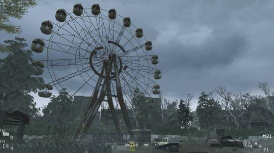 ferris wheel 550x309 نگاهی بر یکی از مراحل خاطره انگیز سری Call of Duty