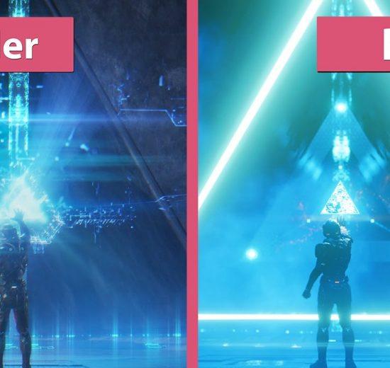 مقایسه گرافیکی تریلر بازی Mass Effect Andromeda