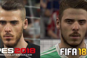 تماشا کنید: مقایسه گرافیکی PES 2018 و FIFA 18