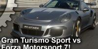 تماشا کنید: مقایسه گرافیکی GT Sport و Forza Motorsport 7