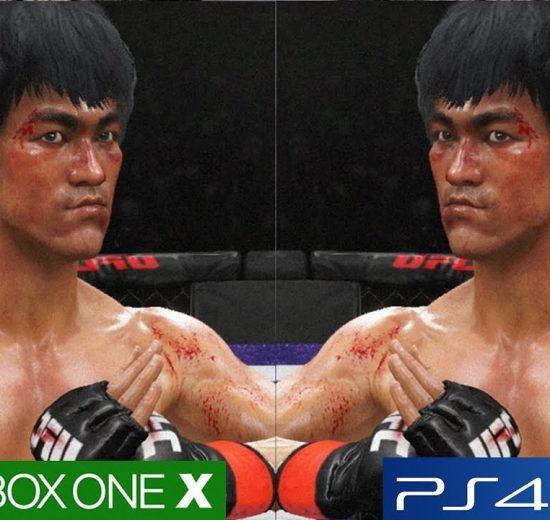 تماشا کنید: مقایسه گرافیکی UFC 3 روی Xbox One X و PS4 Pro