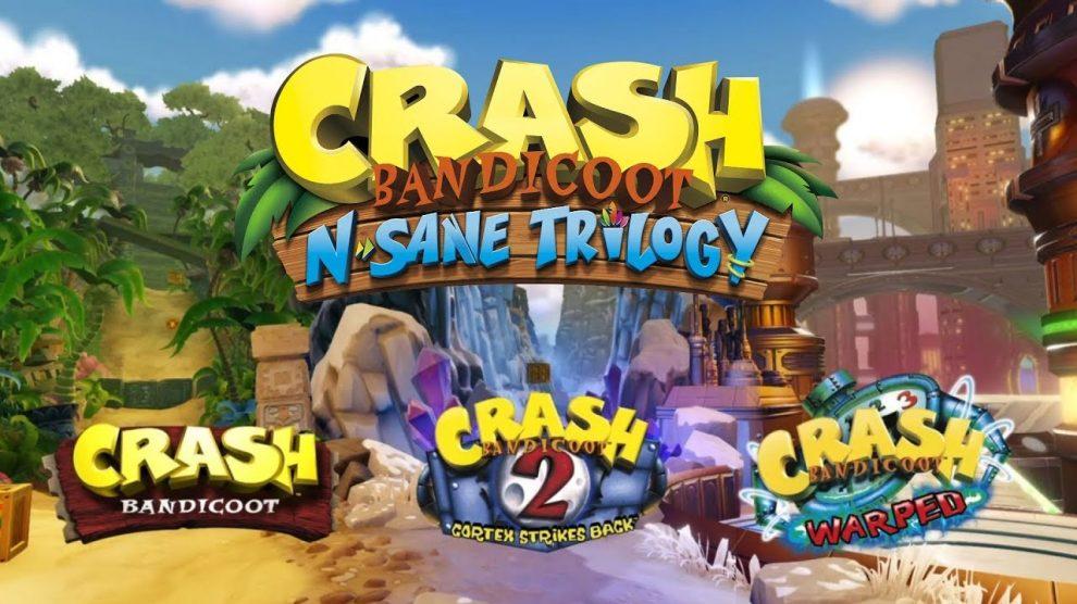 صدرنشینی بازی Crash Bandicoot N.Sane Trilogy در بریتانیا همچنان ادامه دارد