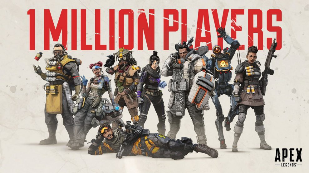 تعداد کاربرهای بازی Apex Legends طی 8 ساعت به یک میلیون نفر رسید
