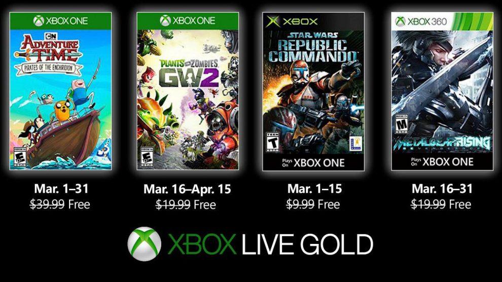معرفی بازیهای رایگان Xbox Live Gold مارچ 2019